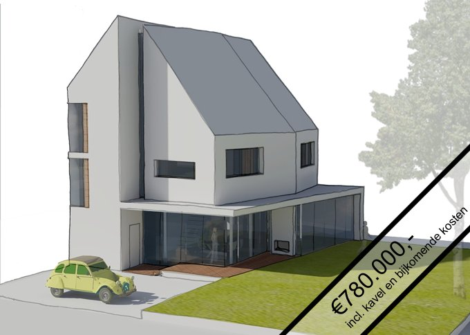 Kavel met moderne villa te koop cronenburgh loenen aan de vecht abjz architectenbureau jules - Moderne uitbreiding huis ...
