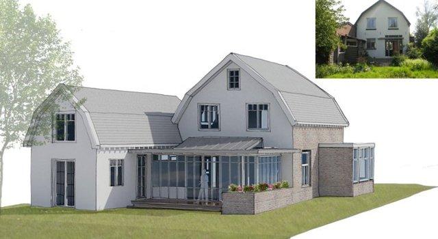 Aan en uitbouw klassiek woonhuis abjz architectenbureau jules zwijsen - Moderne verdieping ...