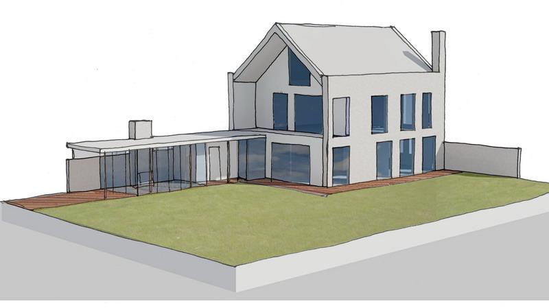 Aanbouw en verbouw woning – abjz, architectenbureau jules zwijsen