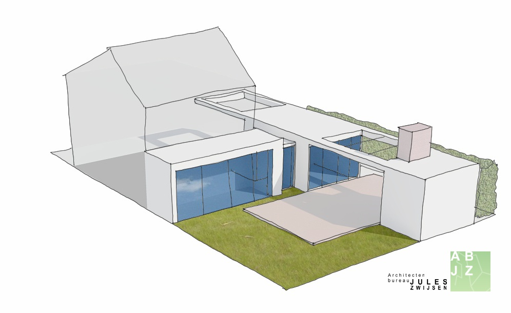 Moderne uitbouw in soest abjz architectenbureau jules zwijsen - Moderne uitbreiding huis ...