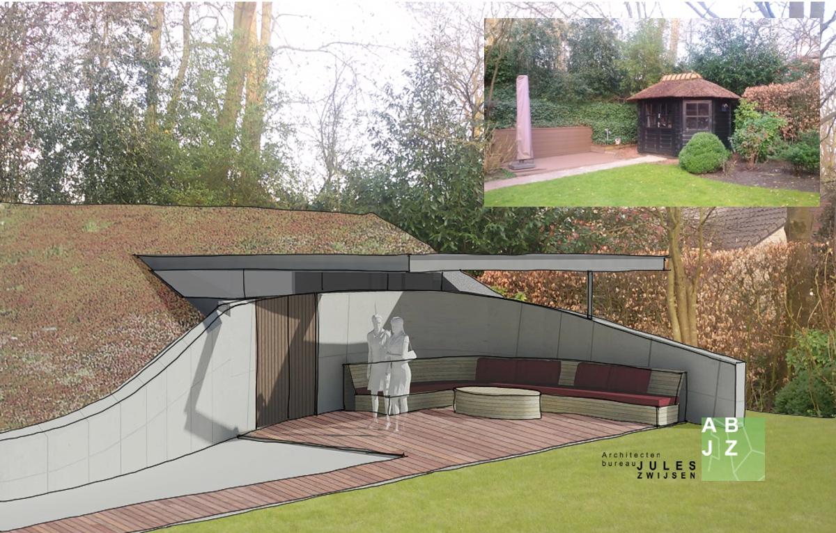 Schuur met veranda in bilthoven abjz architectenbureau for Berging met veranda