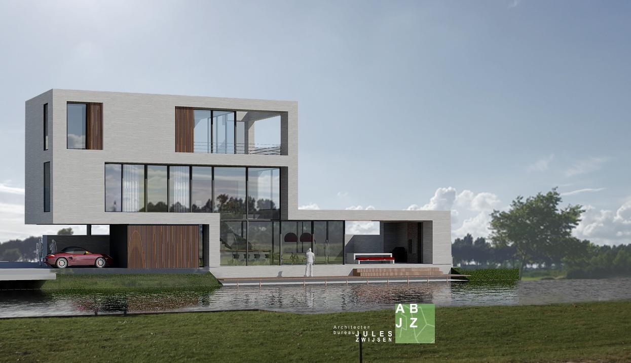 Moderne architectuur abjz architectenbureau jules zwijsen for Modern huis binnenhuisarchitectuur villas